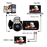 Camcorder Camera Full HD 1080p 24.0MP Digital Video Webcam Recorder 16x Digital Zoom 3 Inch Screen HDMI Output With Remote Control