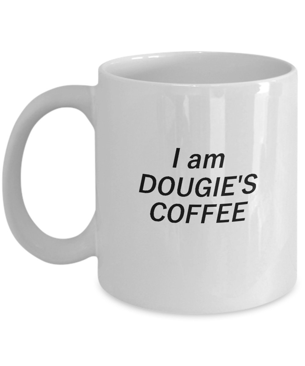 I Am Dougie's Coffee Mug For Peaks Freaks, Peakies and Peakers - Funny Novelty Gift Cup For Twin Fans Of Season 3 Episodes