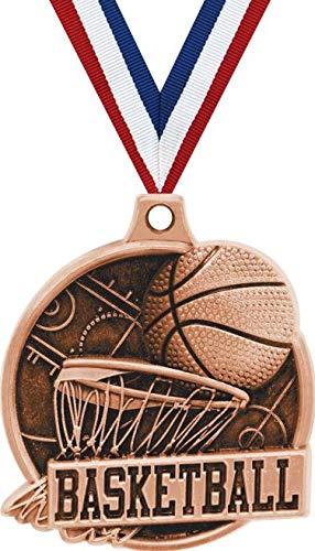 1.5インチ バスケットボールメダル – ブロンズバスケットボールチャレンジャー賞 メダル プライム B07GJXTJZ4 50