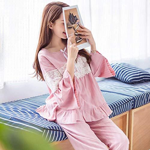 Donna Pigiama Mode Set Di Giuntura Pink Primaverile Pantaloni Fashion Del Marca Dolce Principessa Autunno Pigiami Pastello Abbigliamento Casa HxCWwBaq