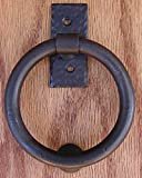 Agave Ironworks Smooth Ring Knocker/Pull Red Rust