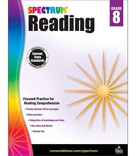 Spectrum | Reading Workbook | 8th Grade, 160pgs