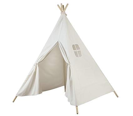 AniiKiss 6u0027 Giant Canvas Kids Teepee Play Tent (White)  sc 1 st  Amazon.com & Amazon.com: AniiKiss 6u0027 Giant Canvas Kids Teepee Play Tent (White ...