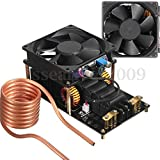 ZVS Induction Heating Machine PCB W/ Cooling Fan Copper Tube Coil 12V-36V 1000W