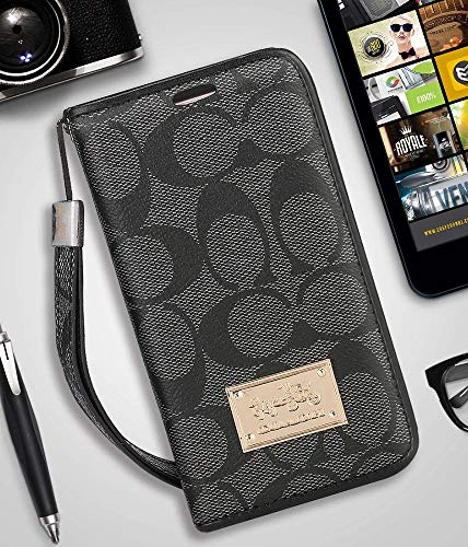 iPhone 7/8 Wallet Case - Luxury Elegant PU Leather Monogram Classic Style Cover Compatible with iPhone 7 Or iPhone 8(iPhone ()