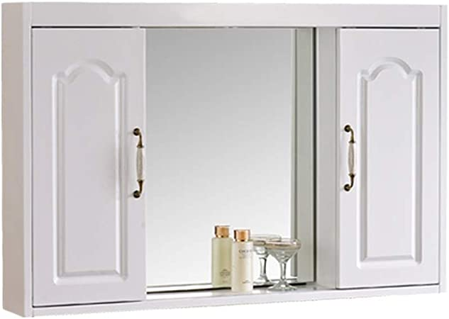 Armario doméstico Mueble de Espejo de baño con Puerta Mueble de Espejo Oculto, diseño de Puerta corredera (Color : Blanco, Size : 80 * 65 * 14cm): Amazon.es: Hogar