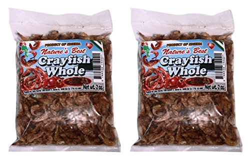 Crayfish. Dried, Whole. 4 oz (2X2oz bags) by Nature's-Best