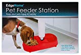 Pet Feeder Station Dog or Cat Food dish and Self Watering Water Bowl with Bottle
