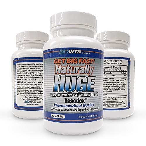 (Naturally Huge Male Enhancement Pills 3 Bottles (3 Month Supply))
