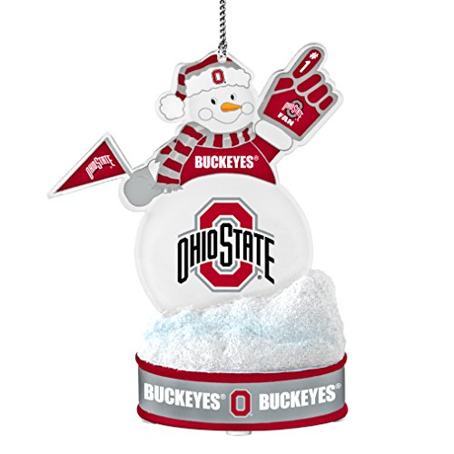 NCAA Ohio State Buckeyes LED Snowman Ornament (Ohio State Snowman)