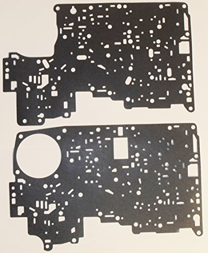 (Global Transmission Parts A4LD Transmission Upper & Lower Valve Body Separator Plate Gasket Set E8RY-7C155-A/E8RY-7D100-A)