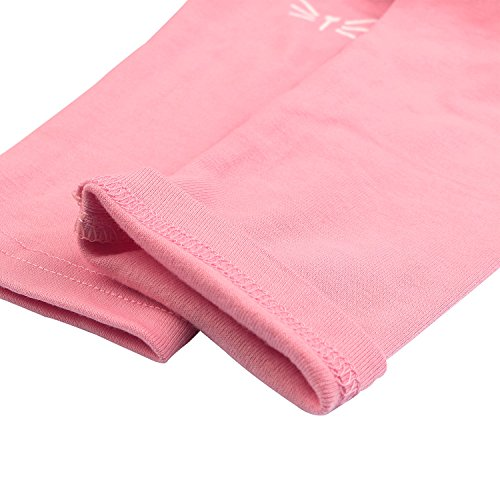2 Pack Girls Pants Baby Toddler Girl Legging Cute Cat Striped Spliced Kids Pant Cotton Blended 5T by BOOPH (Image #6)