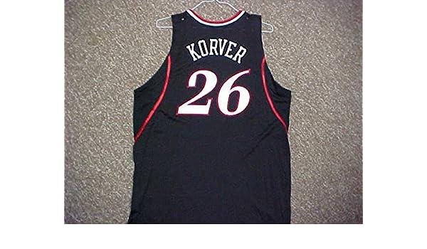 de60403d4f7 Kyle Korver Philadelphia 76ers 2006-2009 Black Road Game Jersey at Amazon s  Sports Collectibles Store
