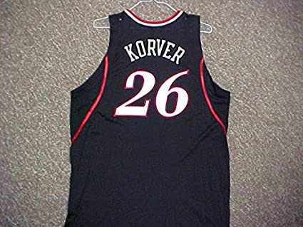 110c3590df7 Image Unavailable. Image not available for. Color  Kyle Korver Philadelphia  76ers 2006-2009 Black Road Game Jersey