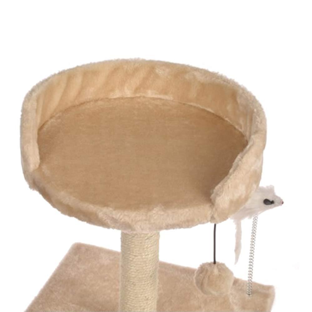 Cozyhoma sisal sisal sisal Gatti Gatto Climb Albero tiragraffi Tower Peluche Gatto attività Alberi a Frame for Climbing Kitten Cat Scratch Board aca39c