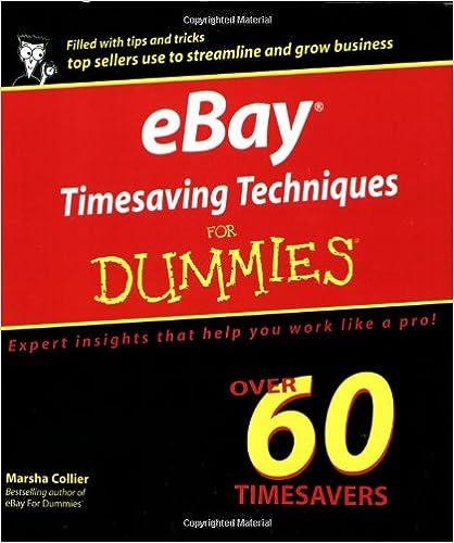 Ebay Timesaving Techniques For Dummies For Dummies Computers Collier Marsha Amazon Com Books