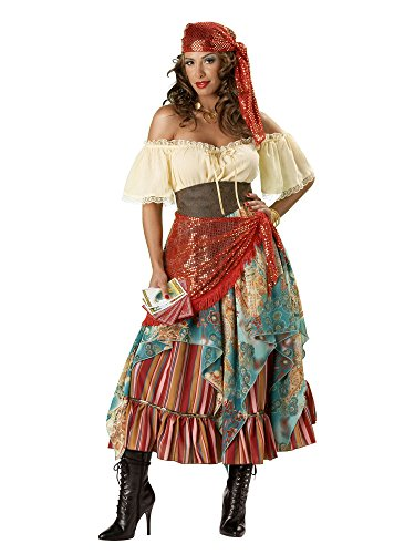 InCharacter Costumes Women's Fortune Teller Costume Tan/Red/Blue, X-Large]()
