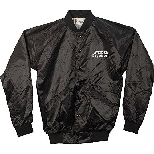 Avenged Sevenfold Men's AVS Death Bat Mens Satin Jacket Jacket Medium Black by Avenged Sevenfold
