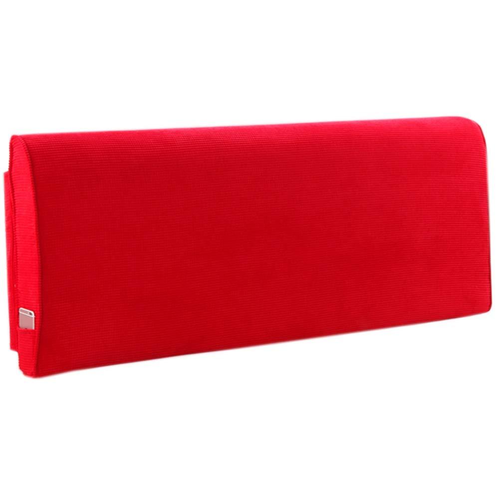 背もたれベッドウェッジ クッションベッド ウェッジクッション, ウエストパッド ネックピロー 洗える クッション、 に適し ソファー ラウンジチェア ベッド オフィス、 8色,red,B180*10*60cm B07SQWG29X red B180*10*60cm