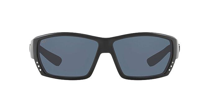 New Costa Del Mar Tuna Alley Polarized Sunglasses 580P Matte Black Blackout//Gray