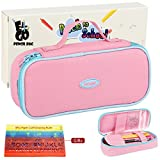 Arts & Crafts : E4go Pencil Case - Large Capacity Pencil Bag With Zipper And High Grade Oxford Fabric 600D, Multifunctional As Toiletry Makeup Bag For Girls, Pink Color 8.7x4.2x2.2 Inches