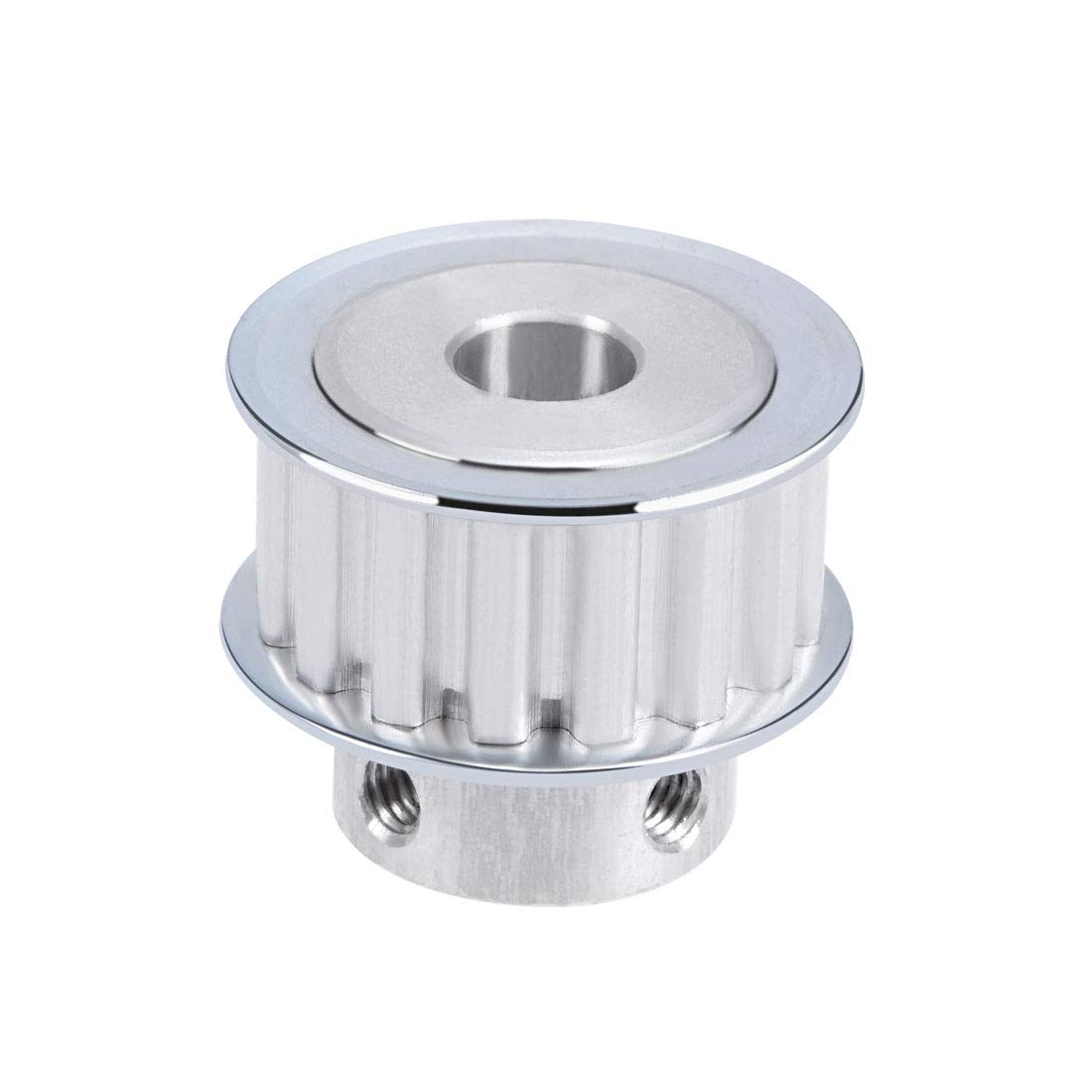 uxcell Aluminum XL 16 Teeth 8mm Bore Timing Belt Pulley Flange Synchronous Wheel for 10mm Belt 3D Printer CNC