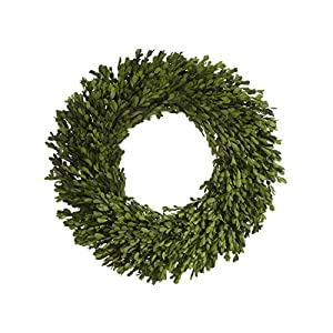 22 Inch Real Boxwood Wreath- Preserved 46