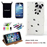 L90 CASE AceNear(TM) For LG Optimus L90 Single Sim D415 T-Mobile Ultrathin Wallet Folio Stand Support Leather Case Series - panda white leather