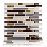 Magictiles Wall Tile Stickers Peel and Stick Self-Adhesive Wall Tile with Mosaic Effect for Kitcheh / Bathroom Backsplash , 10.65''x10'' , Set of 40 Tiles