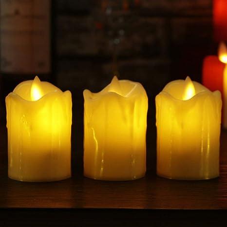 wangZJ 3pcs / lot llevó la vela sin llama/la llama simulada ...