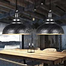 Retro Silver Industrial Style Modern Home Fixture E27 Ceiling Metal Pendant Light Shade for Lighting and Decoration