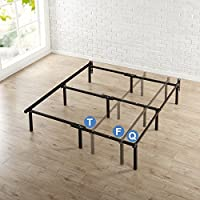 Zinus 12 Inch Compack Bed Frame, for Box Spring & Mattress Sets, Extra High so Bed Risers not needed, Fits Twin to Queen