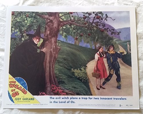 The Wizard of Oz Lobby Card 14 x 11 inches Judy Garland, Wicked Witch, Scarecrow]()