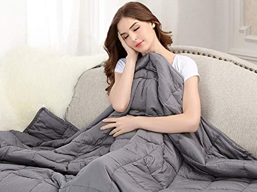 Twin Cooling System - Cooling Weighted Blanket & Calm Sleeping for Adult Kids | 20 lbs | 48