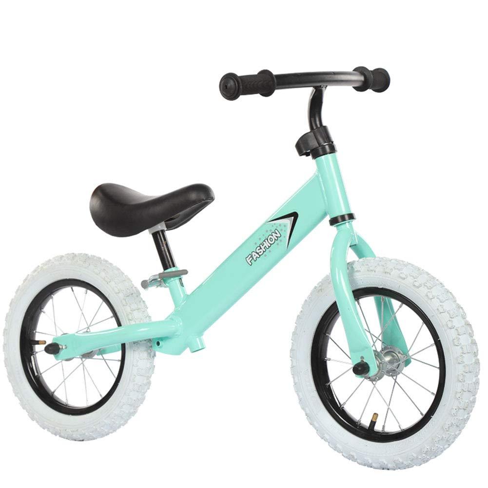 1-1 Biciclette Senza Pedali per Bambini, Pneumatici Gonfiabili Senza Pedali Regolabile Leggero Prima Bicicletta,verde