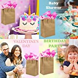 [100 Bags] 6.25 X 3.5 X 8 Brown Kraft Paper Gift