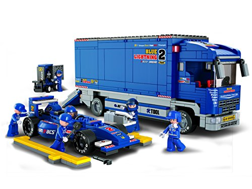 FORMULA 1, Bull Racing Truck 641 Pieces Building Blocks Set