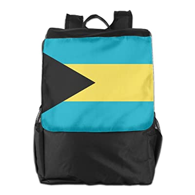 new Kuswaq Flag Of Bahamas Unisex Casual Backpack Laptop Travel Shoulder Bag Lightweight Packable Durable Travel Hiking Backpack Daypack