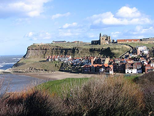 - Home Comforts Peel-n-Stick Poster of Whitby Harbour Abbey North Yorkshire Vivid Imagery Poster 24 x 16 Adhesive Sticker Poster Print