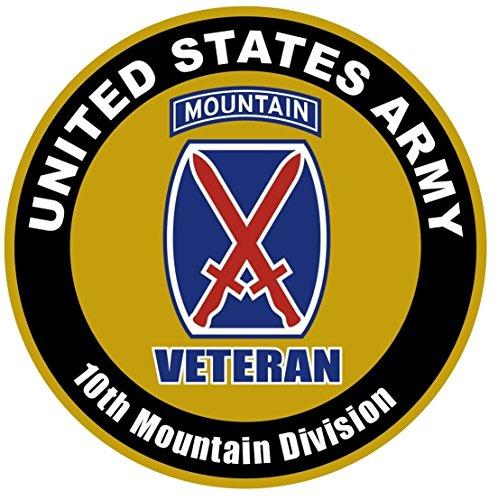 (1 Set Grandiose Fashionable US Army Veteran 10th Mountain Division Sticker Sign Bumper Car Decal Door Size 8