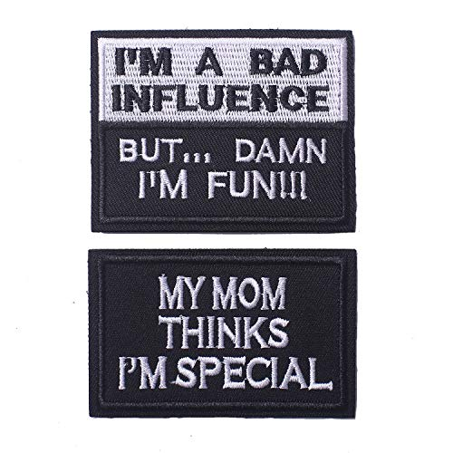My Mom Thinks I'm Special & I'm A Bad Influence Tactical Military Morale Patch for Tactical Gear Hat Backpack Jackets