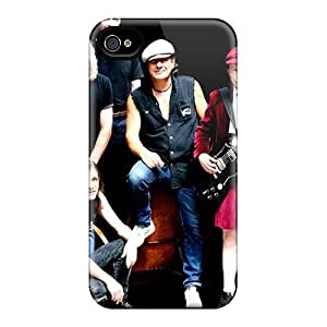 AlainTanielian Iphone 4/4s Protective Hard Cell-phone Case Unique Design Trendy Ac Dc Band Series [LHK19177OZrY]