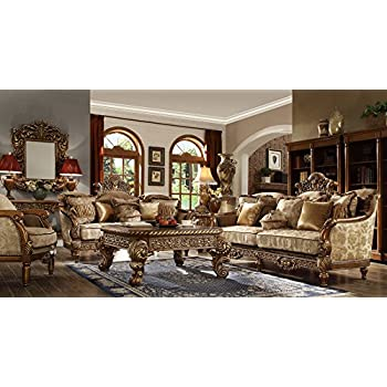 Inland Empire Furniture Massima Formal Wood Trim Sofa, Love Seat And Chair  Set