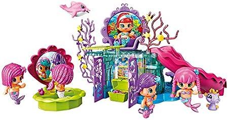 Completo set de las Pinypon,Consiste en el gran reino de las sirenas,Incluye una muñeca y una mascot