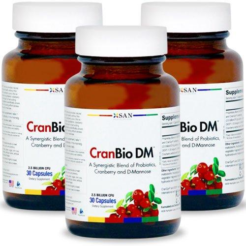 CRANBIO urinaire Tract DM Formule Santé | 30 Capsules. Made in USA (3 pièces)