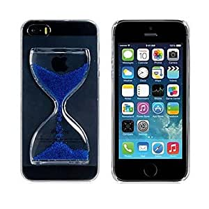 LZX Hourglass Hard Plastic Case for iPhone 5S/5 (Blue)