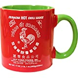 Large 20 oz Sriracha Hot Sauce Red And Green Ceramic Mug