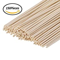 Senkary 150 Pieces Reed Diffuser Sticks Wood Rattan Reed Sticks Fragrance Essential Oil Aroma Diffuser Replacement Sticks