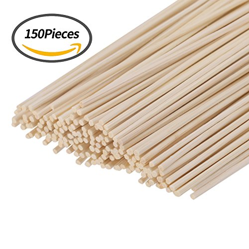 Diffuser Sticks (Senkary 150 Pieces Reed Diffuser Sticks Wood Rattan Reed Sticks Fragrance Essential Oil Aroma Diffuser Replacement Sticks)