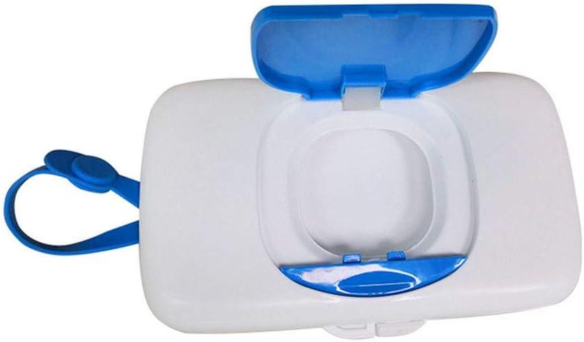 Feuchtt/ücher Box Gewebe Zufuhr Kasten Portable Storage Container Im Freien Baby Wipes Dispenser Box Staubdichtes F/ür Home Office Travel Blue